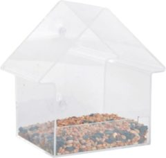 Esschert Design Voederhuisje voor het raam acryl 15x10x15,3 cm FB370