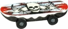 Brunnen Gum Skateboard Schedel Wit/rood 6 Cm