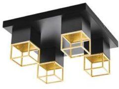 EGLO 97731 plafondverlichting Zwart, Goud GU10 5 W