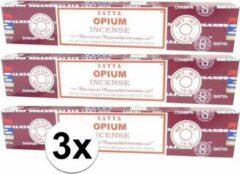 Hem 3x Nag Champa wierook Opium 15 gram