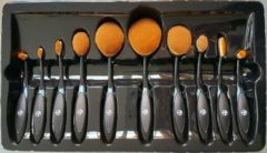 Zwarte W7 Professional Soft Brush Collection Set - 10 Stuks