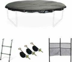 Alice's Garden Pakket met accessoires voor trampoline Ø250cm Pluton, Pluton Inner en Gemeaux met een ladder, een beschermhoes, een opbergnet voor schoenen en een verankeringskit