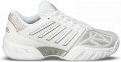 Zilveren K-Swiss K•Swiss BIGSHOT LIGHT 3 OMNI - WHITE/SILVER - Tennisschoenen