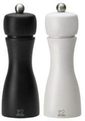 Zwarte Peugeot Tahiti peper- en zoutmolen 15 cm set van 2
