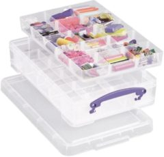 Really Useful Boxes Really Useful Box 4 liter met 2 dividers transparant