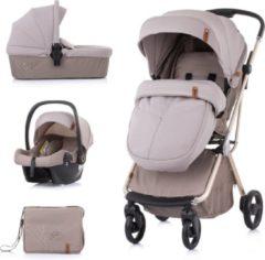 Kinderwagen 3 in 1 Piruet Chipolino mokka inclusief 360 graden draaibaar zitje voor meer comfort!