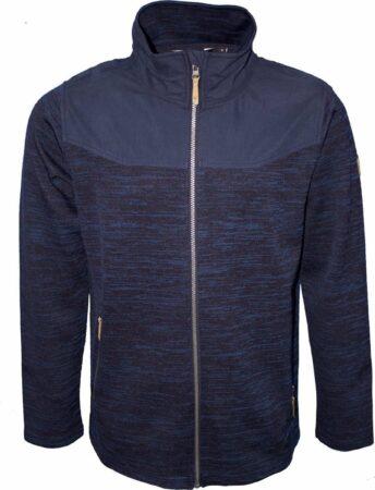 Afbeelding van Life-Line Berria Fleece Jas - Heren Outdoor Vest - Blauw - Waterafstotend Fleece Vest