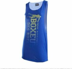 Blauwe Boxeur Des Rues WOMAN OVERSIZE TANK TOP WITH VERTICAL LOGO