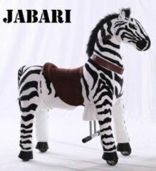 "Kids-Horse Animal Riding, rijdend speelgoed zebra, zwart/wit gestreept 4-9 jaar, Kids-Horse ""Jabari"" (TB-2001M)"