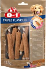 8in1 Delights Ribs Triple Flavour - Hondensnacks - Kip Varken Rund 113 g 6 stuks