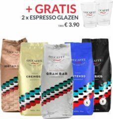 Occaffe O'ccaffè - Premium Italiaanse koffiebonen | Professional | Proefpakket XXL | 5 x 1kg | Barista kwaliteit