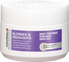 SALE Goldwell Dualsenses Blondes & Highlights 60sec Treatment Masker Blond Haar/Highlights 200ml