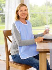 Speiseschürze mit Klettverschluss Frohn hellblau