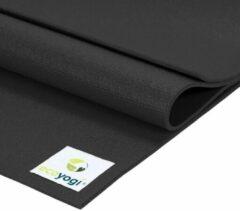 Ecoyogi Studio Yoga Mat Zwart - 200 cm - extra lang