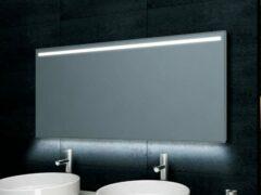 Douche Concurrent Badkamerspiegel Wiesbaden Ambi One 120x60cm Geintegreerde LED Verlichting Verwarming Anti Condens Touch Lichtschakelaar Dimbaar