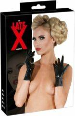 Late X LateX – Latex Korte Handschoenen met Strakke Pasvorm Perfecte Accessoire voor Fetish Outfit Maat XL – Zwart
