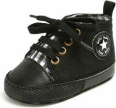 Zwarte Star Nieuwe Klassieke Sport Sneakers Pasgeboren Baby Jongens Meisjes Eerste Wandelaars Schoenen 0-6 maanden, Zachte Zool Anti-Slip Baby schoen 2020 ( kleur Black ! )