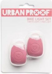 URBAN PROOF UrbanProof fietslampjes set siliconen Warm roze