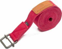 Roze #DoYourYoga - Yogariem - »Yaro« - 100% katoen met plastic sluiting - 190 cm - Rose