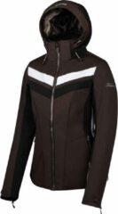 Falcon Tebulo Skijas Wintersportjas - Maat L - Vrouwen - bruin/zwart/wit
