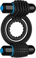 Zwarte Doc Johnson - Optimale - Vibrating Double C-Ring - Black