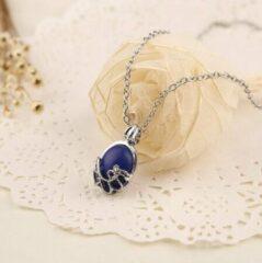 Wellness-House | Verzilverde ketting Blue | Blauw | Zen Ketting | Fashion