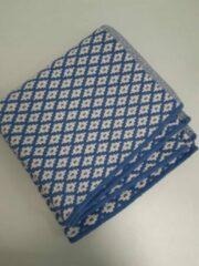 Merkloos / Sans marque Vloerkleed, blauw met wit