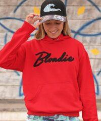 Rode B&C Collection Blondie & Brownie Hoodie Premium Red Black (Blondie - Maat M)