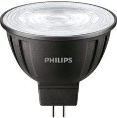 Zwarte Philips LEDspot LV GU5.3 MR16 8W 827 36D (MASTER) | Extra Warm Wit - Dimbaar - Vervangt 50W