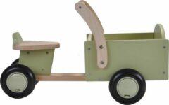 Groene Bandits And Angels - Houten Bakfiets Little Rider Retro Green
