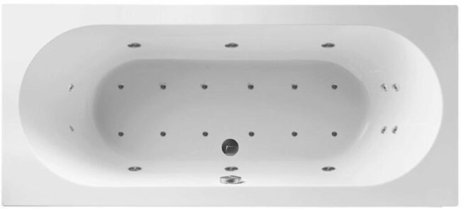 Afbeelding van Lambini Designs Round Bubbelbad 180x80cm 6+4+2 hydro en 12 aero jets