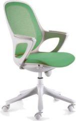 Amstyle Amstyle Bürostuhl MAGLO Grün Stoff Schreibtischstuhl Drehstuhl Bürosessel mit Armlehnen