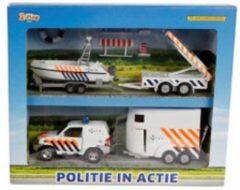 Basic Politie in Actie 4-delige Set met Licht 25cm
