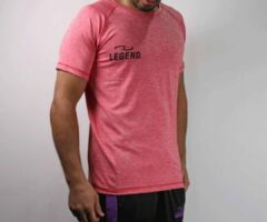 Legend Sports Dryfit Sportshirt Melange Rood Maat Xl