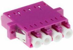 Paarse ACT Intronics Fiber optic LC-LC quad adapter OM4