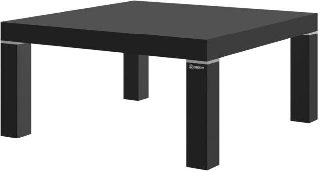 Afbeelding van Hubertus Meble Vierkante Salontafel Monaco 100x48x100 cm breed in hoogglans zwart