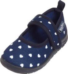 Marineblauwe Playshoes Instappers Hartjes Junior Navy Maat 24/25