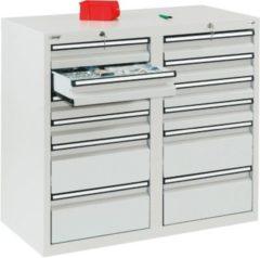 Stumpf Metall Stumpf® STS 410 Schubladenschrank mit 12 Schubladen, lichtgrau - 90 x 100 x 50 cm