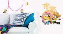 Minions Despicable 3 On vacation - Muursticker - Multi