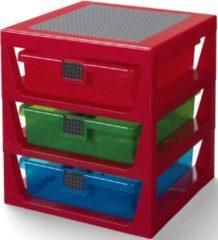 Lego - Iconic Opbergrek Met 3 Lades - Rood
