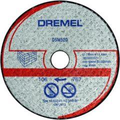 2 metselwerk-doorslijpschijven DSM 520 Dremel 2615S520JA Diameter 77 mm 2 stuks