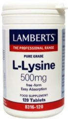 Lamberts L Lysine 500 mg 120 tabletten