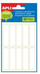Apli witte etiketten ft 13 x 50 mm (b x h), 60 stuks, 10 per blad (2673)