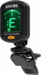 Gitaar Tuner - Aroma AT-01A - Draaibare - LCD Display - Stemapparaat Voor Akoestische Gitaar - Voor Bas - Voor Viool - Gitaar Stemmer - Zwart - Gratis Batterij!