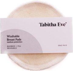 Gebroken-witte Tabitha Wasbare hennep zoogcompressen