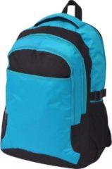 VidaXL Rugzak voor school 40 L zwart en blauw