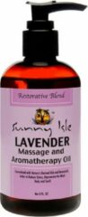 Sunny Isle Jamaican Black Castor Oil Lavender Massage and Aromatherapy Oil 236ml