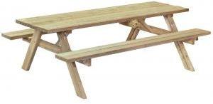 Afbeelding van Groene Tuindeco Picknicktafel Basis 180 cm