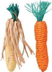 Trixie Knaagspeeltje Strotouw Wortel En Maïskolf - Speelgoed - 15 cm 38 g 2 stuks