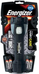 Zwarte Energizer zaklamp Hard Case inclusief 4 AA batterijen blisterverpakking